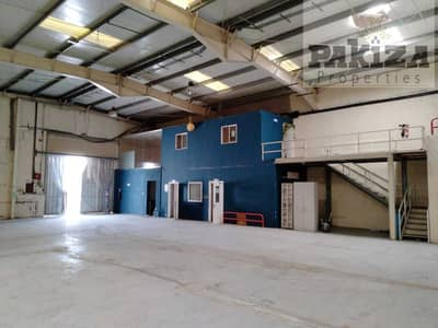 Warehouse for Rent in Al Quoz, Dubai - 10300Sqft I Ready To Occupy I High Voltage Commercial Warehouse with Mezzanine Office Setup Available !!
