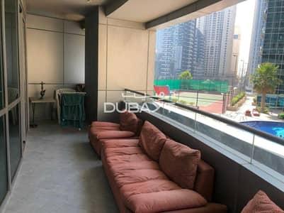 فلیٹ 1 غرفة نوم للايجار في دبي مارينا، دبي - 1 B/R + Balcony Furnished Marina View The Waves A