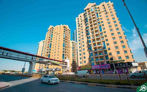 1 Bedroom Apartment for Rent in Ajman Downtown, Ajman - Hot Offer! Full Open View 1bhk Close Kitchen Alkhor Towers 17k Only