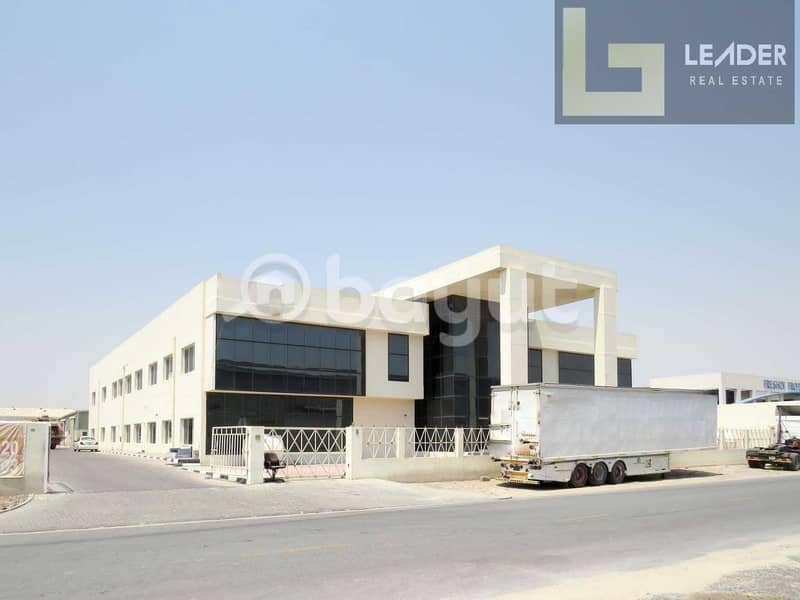 Office Building With Warehouse l Power 350 Kw l  35000 sq ft l @20 aed Sq ft