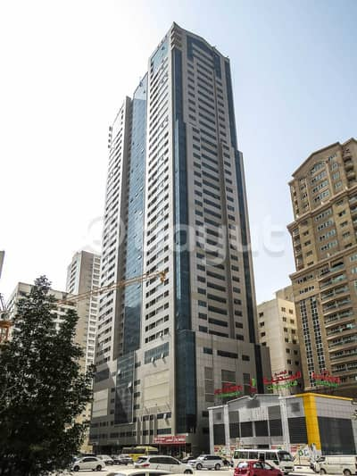 Studio for Rent in Al Nahda, Sharjah - To Let Spacious Studio, open kitchen with fitted cabinets in Gulf Pearl Tower, located in Al Nahda Sharjah
