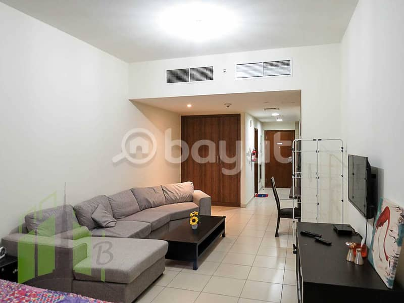 Furnished Studio apartment on monthly basis in Ajman One Towers