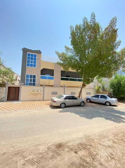 6 Bedroom Villa for Rent in Al Bustan, Ajman - Villa for rent in Ajman, Al Bustan area, on an asphalt street  two floors