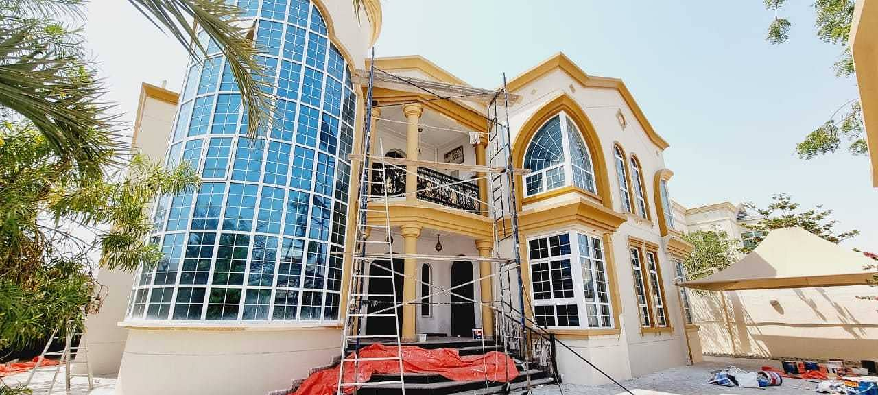 THE MOST LUXURIOUS BRAND NEW VILLA FOR RENT 140K AED IN AL RAMAQIYA AREA SHARJAH