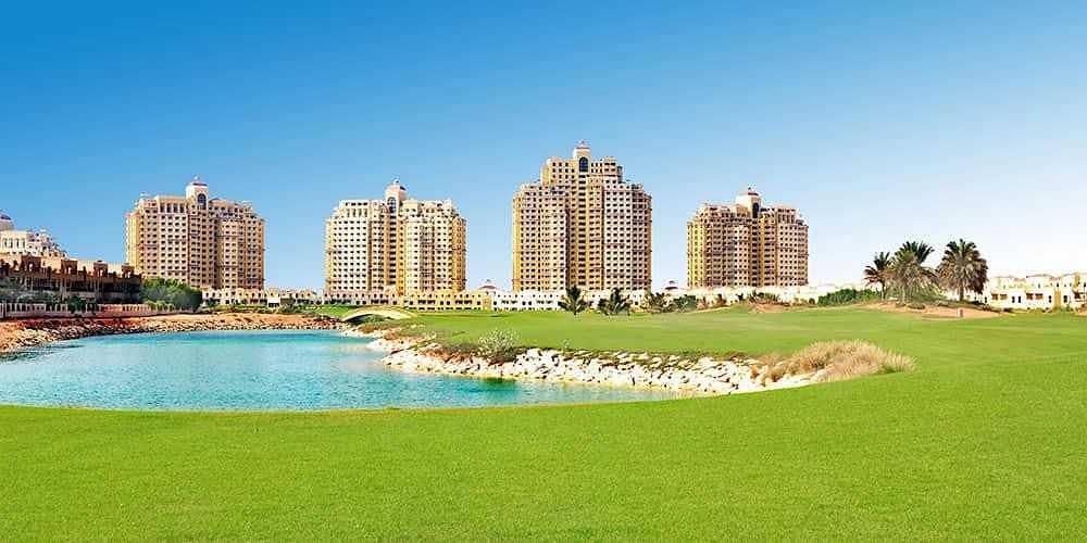 6 For rent  furnished 1 bed lagoon view flat
