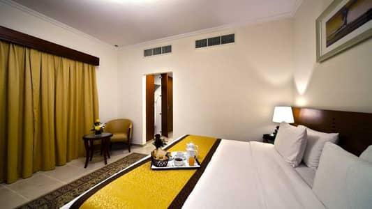 1 Bedroom Hotel Apartment for Rent in Bur Dubai, Dubai - Master bedroom