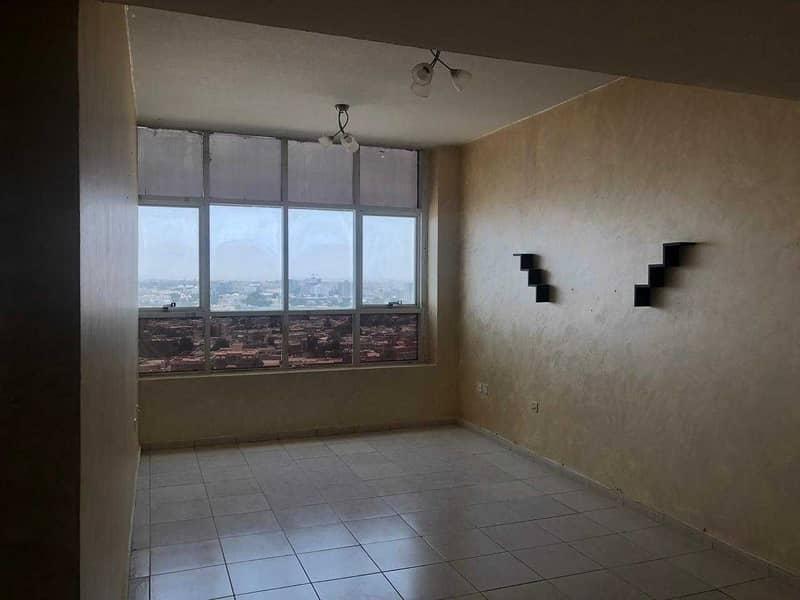 غرفتين و صاله للايجار مساحة كبير ١١٤٢ قدم جاردين سيتي