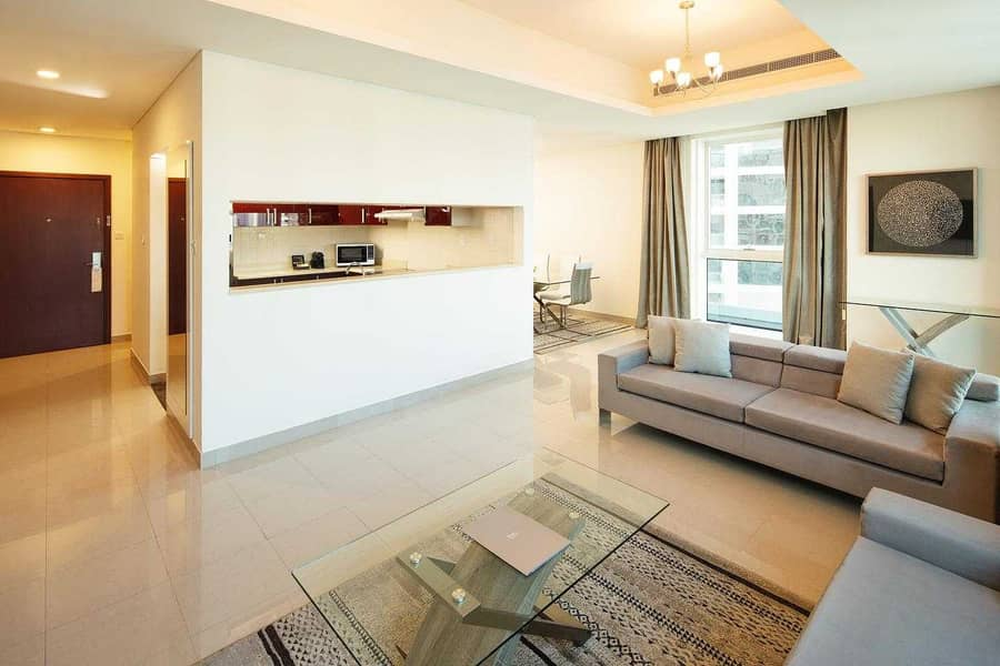 2 bedroom apartment sea view  All bills included  Fully furnished  flexable paymrnt High Floor
