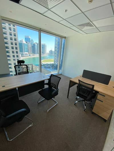 Office for Rent in Business Bay, Dubai - Fully Furnished Office with Canal View !