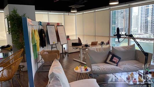 مکتب  للبيع في أبراج بحيرات الجميرا، دبي - Great Deal/Amazing Lake View/Fitted Office