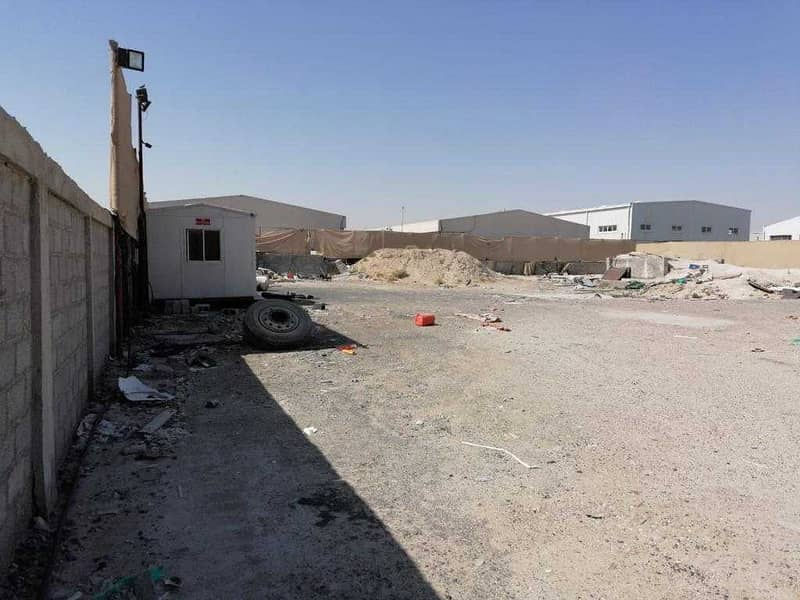 Open Yard land is available for ret in Ras Al Khor area 50000 Sqft Price 700000 AED