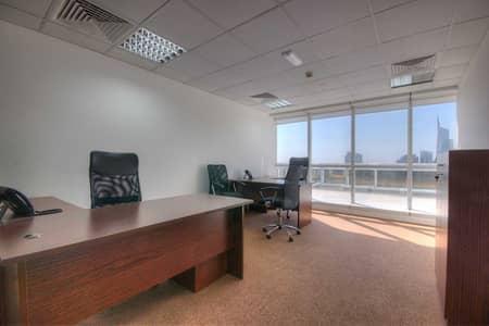 مکتب  للايجار في أبراج بحيرات الجميرا، دبي - Contemporary Office |Service office | Open Terrance |