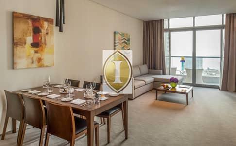 2 Bedroom Hotel Apartment for Rent in Dubai Marina, Dubai - Marina View   2 Balconies   Kitchenette