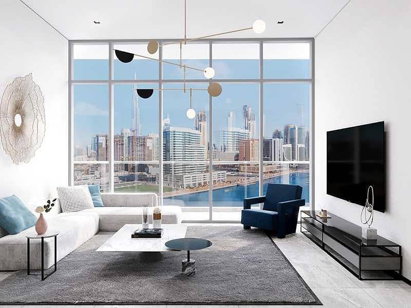 Brightly lit Living room