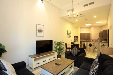شقة 2 غرفة نوم للايجار في الجداف، دبي - Living Room