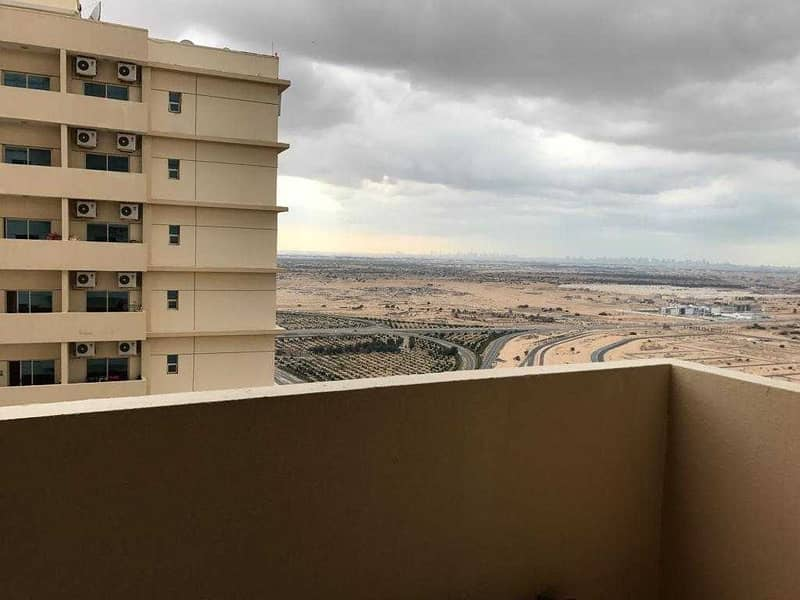 High floor open view spacious apartment available In Lilies tower , Emirates city ,ajman