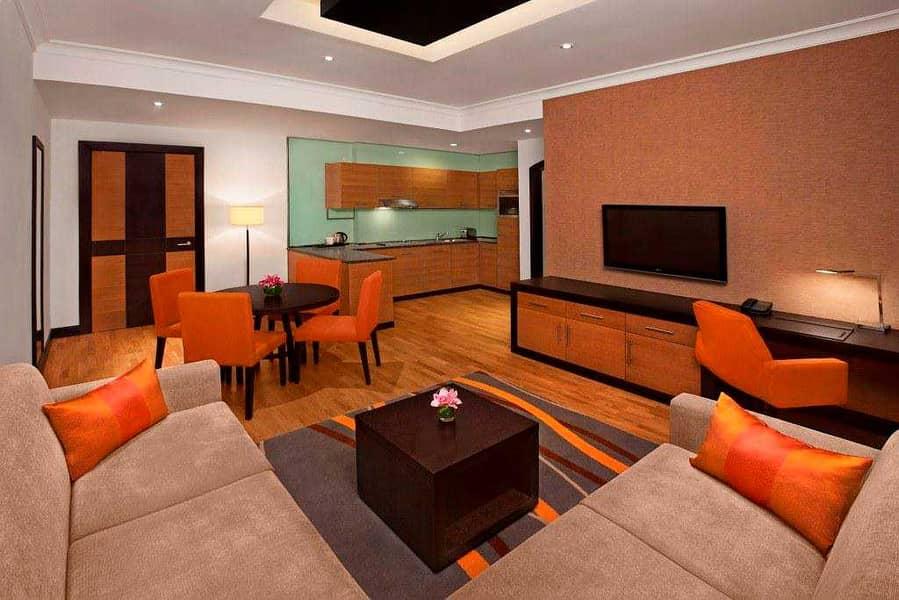 شقة فندقية في دبل تري هيلتون البرشاء 1 البرشاء 1 غرف 125000 درهم - 5259461