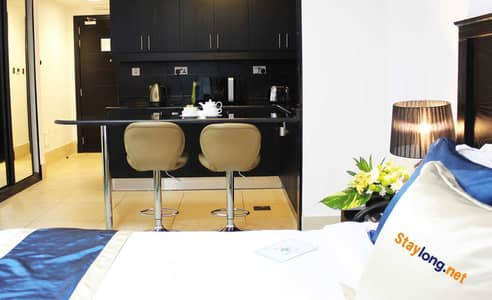Studio for Rent in Al Nahyan, Abu Dhabi - FULLY FURNISHED DELUXE STUDIO - AL NAHYAN AREA