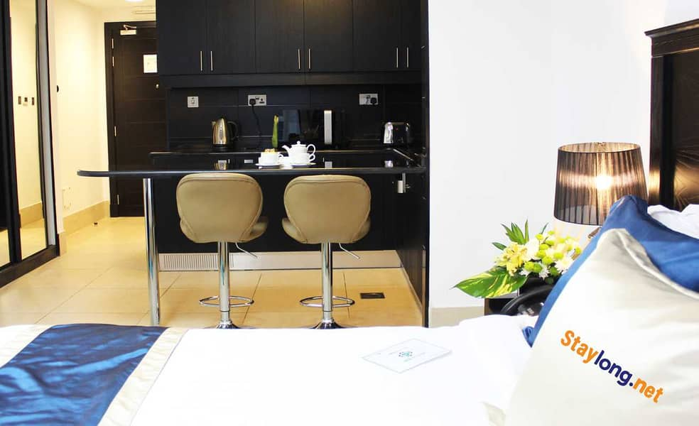 FULLY FURNISHED DELUXE STUDIO - AL NAHYAN AREA