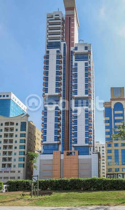 3 Bedroom Flat for Rent in Al Mahatah, Sharjah - 3BHK in a  new tower -Al Mahatta-No Commission -One Month  Free - Camera in and out of the tower - Parking