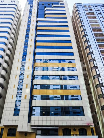 3 Bedroom Flat for Rent in Al Markaziya, Abu Dhabi - Main Building Frontal View
