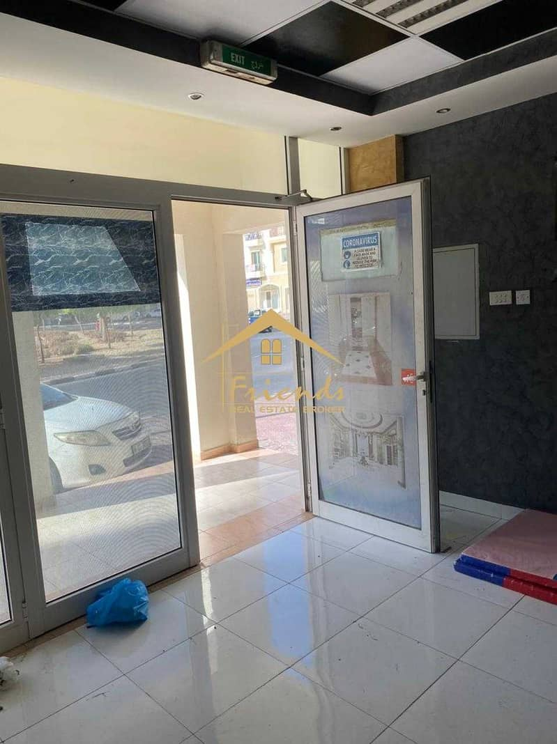 FULLY FITTED-READY TO MOVE IN SHOP IN GREECE CLUSTER WITH CENTRALIZE AC IS FOR RENT Aed35000/-YEARLY