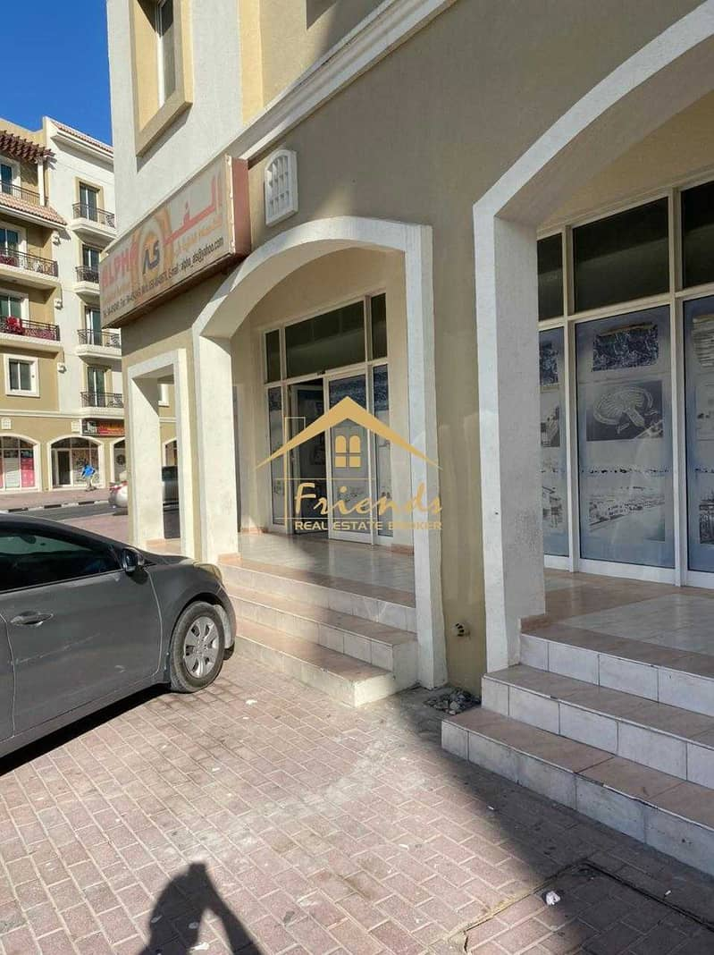 2 FULLY FITTED-READY TO MOVE IN SHOP IN GREECE CLUSTER WITH CENTRALIZE AC IS FOR RENT Aed35000/-YEARLY