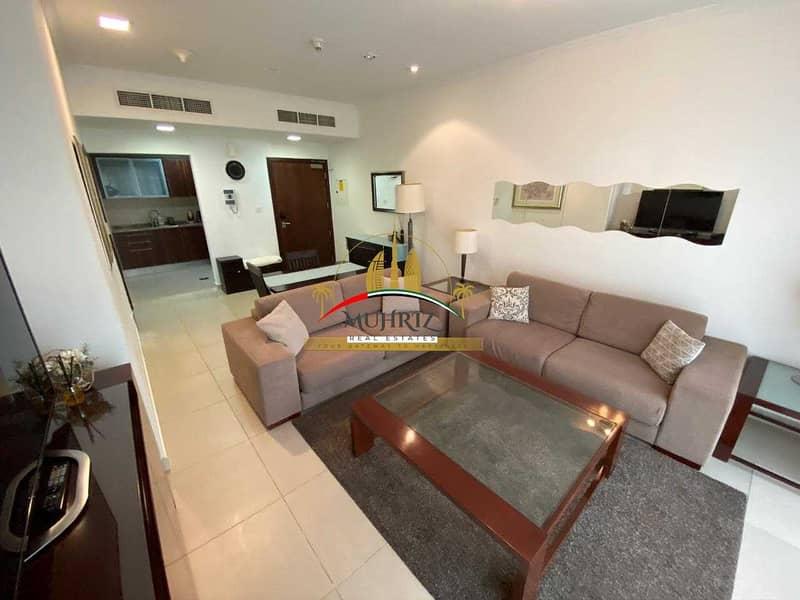 Furnished High Floor 1 BR Apt in Goldcrest executive