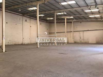 Warehouse for Rent in New Industrial City, Ajman - GOOD LOCATION WAREHOUSE WITH 2000 SQFT GOLDEN OFFER FOR FACTORY & STORAGE IN 4 TO 6 CHEQUES