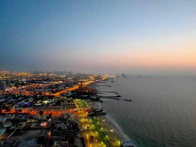 1 Bedroom Flat for Sale in Corniche Ajman, Ajman - Full Sea View 1bhk for sale in Corniche Tower