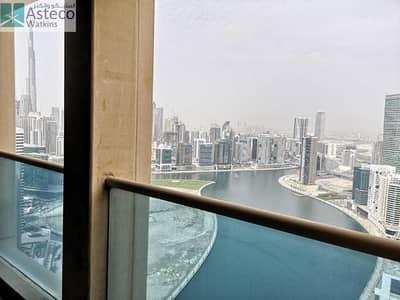 2 Bedroom Flat for Rent in Business Bay, Dubai - Huge 2BHK I Full Canal View I Burj Khalifa View