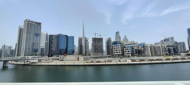 Office for Rent in Business Bay, Dubai - DUPLEX OFFICE HUGE BALCONY FITTED