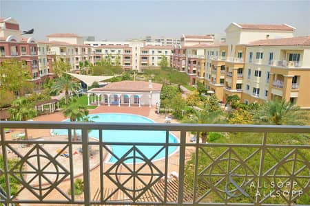 1 Bedroom Apartment for Rent in Green Community, Dubai - 1 Bed | Pool and Garden View | Third Floor