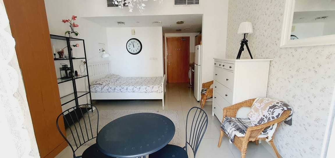 Fully Furnished/ STD/ Parking/ pay Monthly 3000/-AED