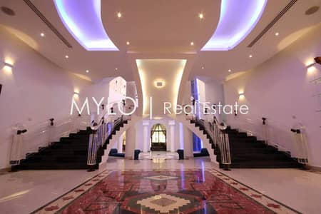 7 Bedroom Villa for Rent in Emirates Hills, Dubai - 7 bed | Cinema | Sauna | Rooftop Lounge