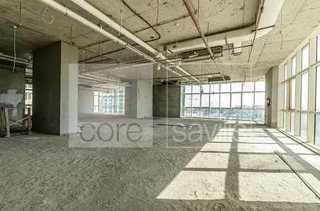 Good lay out, shell and core office in Corniche,
