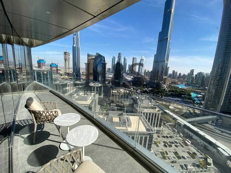 Fully Furnished 2 Beds   Burj Khalifa View   Ready to Move
