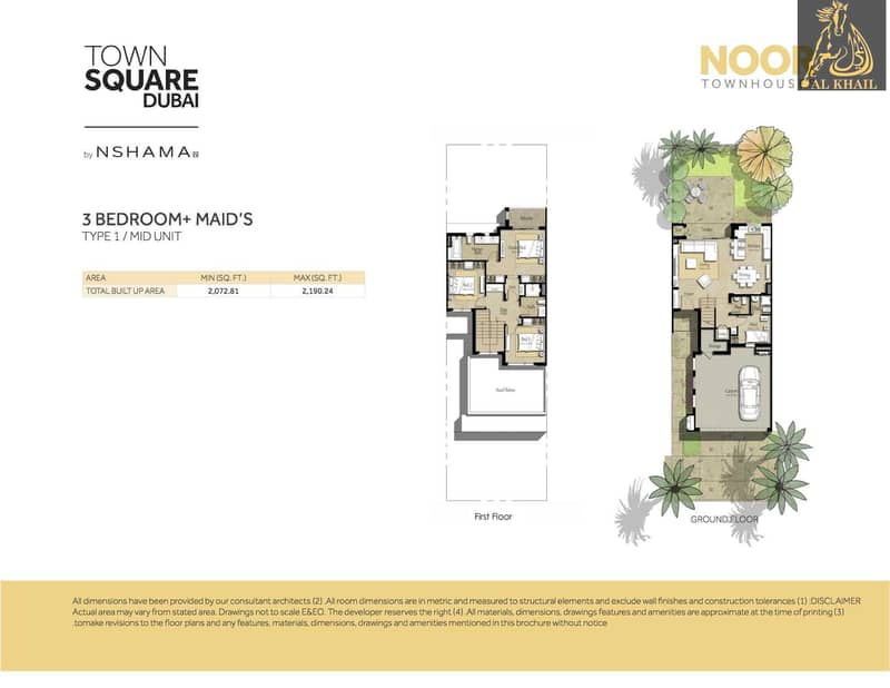 17 Modern 3 bedroom villa in Noor Townhouses  Town Square