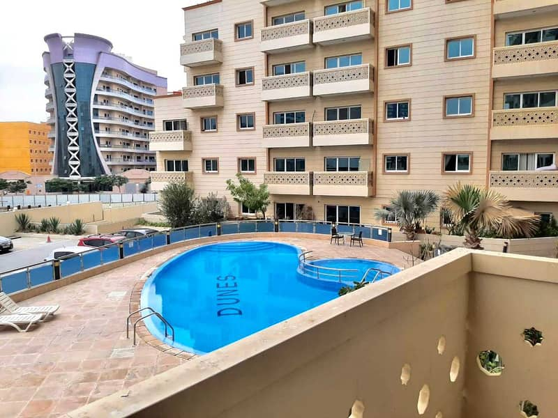 Specious Huge Bright 2Bhk Duplex With Pool View