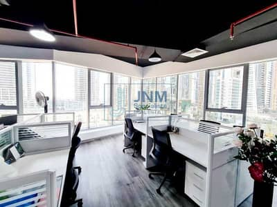 Office for Rent in Jumeirah Lake Towers (JLT), Dubai - Grade A tower |Fitted Office| Lower Floor | Platinum