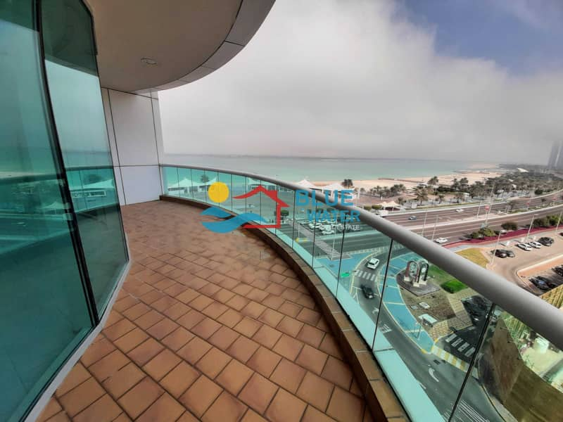Fully Sea View Duplex 3 BR With Balcony And Parking.