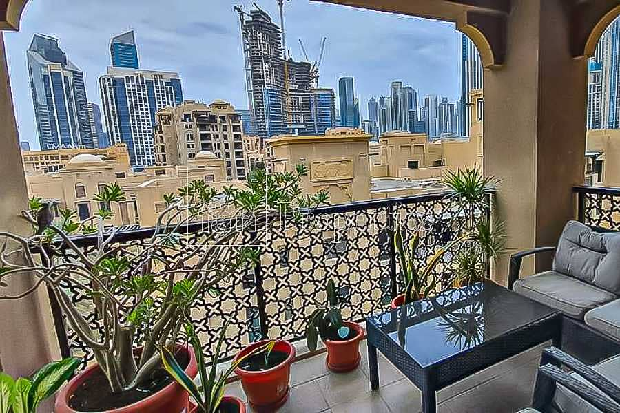 Large Balcony I 2 bedrooms with attached bathrooms