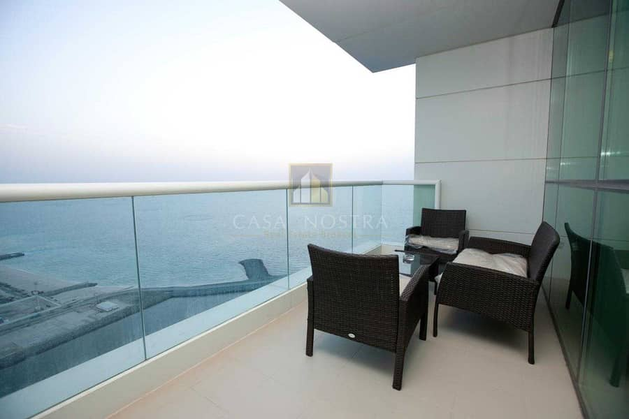2 Higher Floor Furnished 2BR Maids Room Sea View