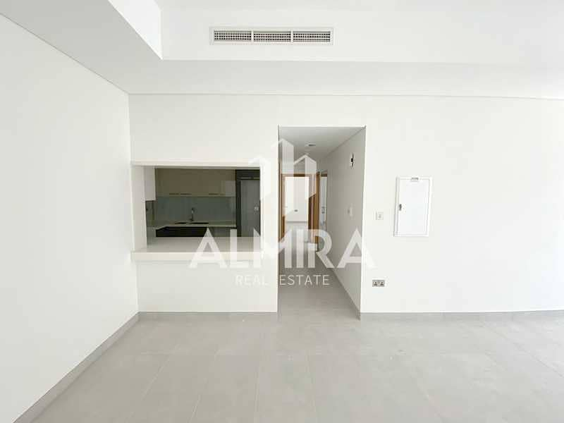 2 Living defined by space 2BR w/ balcony