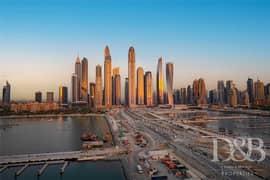 شقة في بيتش فيستا إعمار الواجهة المائية دبي هاربور 4 غرف 6500000 درهم - 5072892