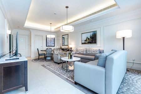 شقة فندقية 1 غرفة نوم للايجار في وسط مدينة دبي، دبي - Furnished & Serviced | Bills included | Burj View