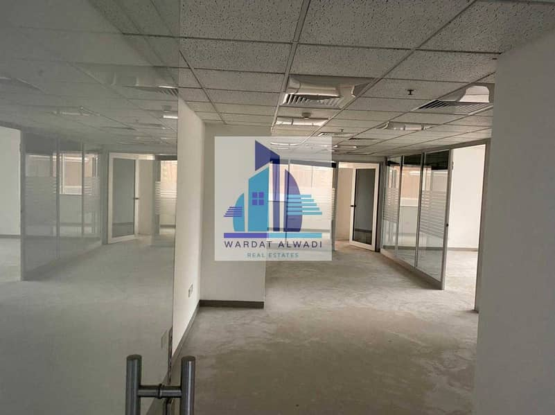 AN1) Beautiful Partitions office for rent in Sheikh Zayed Road