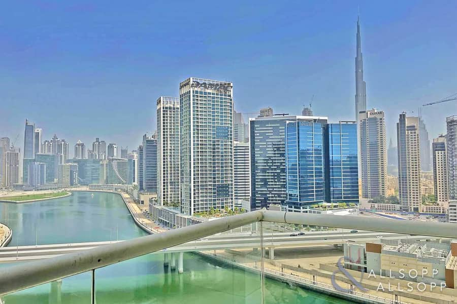 Burj Khalifa and Canal View | One Bedroom