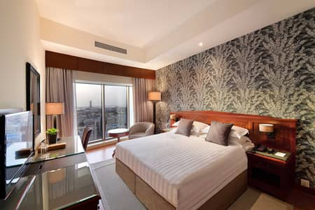 1 Bedroom Hotel Apartment for Rent in Bur Dubai, Dubai - All taxes inclusive / Dewa Inclsive/Car parking Incuisve/3 time Housekeeping service in a week.