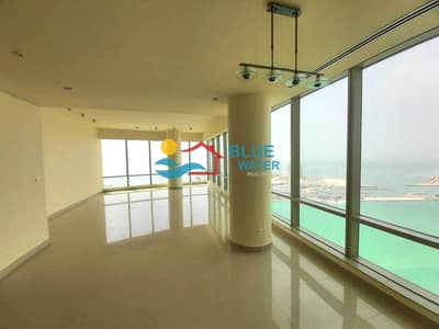 3 Bedroom Flat for Rent in Corniche Area, Abu Dhabi - 0% Fee! Fully Sea View 3 BR With 2 Parking+Maid